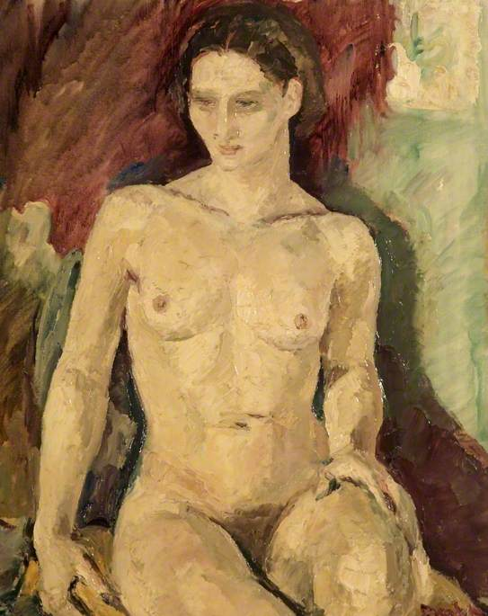 Nude by Ronald Ossory Dunlop (1894-1973, Ireland) | Painting Copy | WahooArt.com