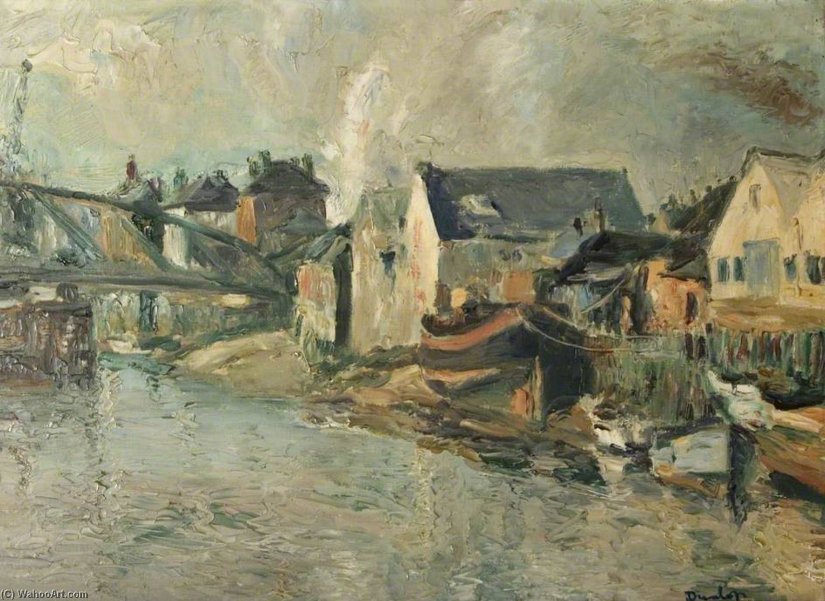 The Wharf, Littlehampton by Ronald Ossory Dunlop (1894-1973, Ireland) | Museum Quality Reproductions | WahooArt.com