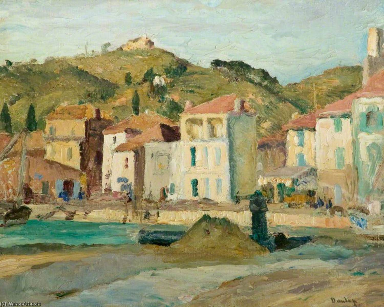 Martigues, France, Oil On Canvas by Ronald Ossory Dunlop (1894-1973, Ireland)