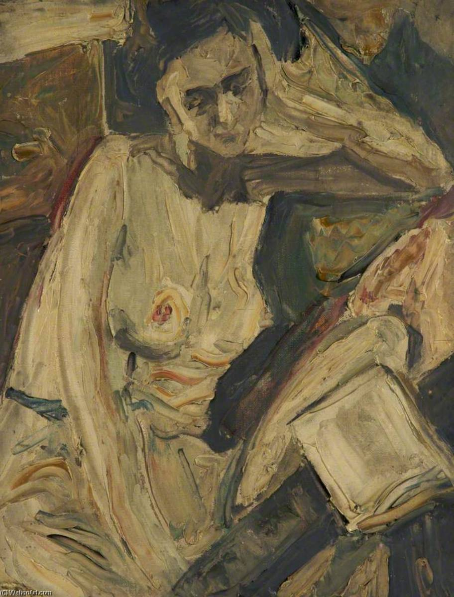 Female Nude, Oil On Canvas by Ronald Ossory Dunlop (1894-1973, Ireland)