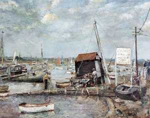 Ronald Ossory Dunlop - The Hard, Mersea Island, Essex