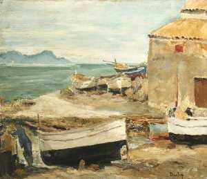 Ronald Ossory Dunlop - Boatsheds at St Tropez ( )