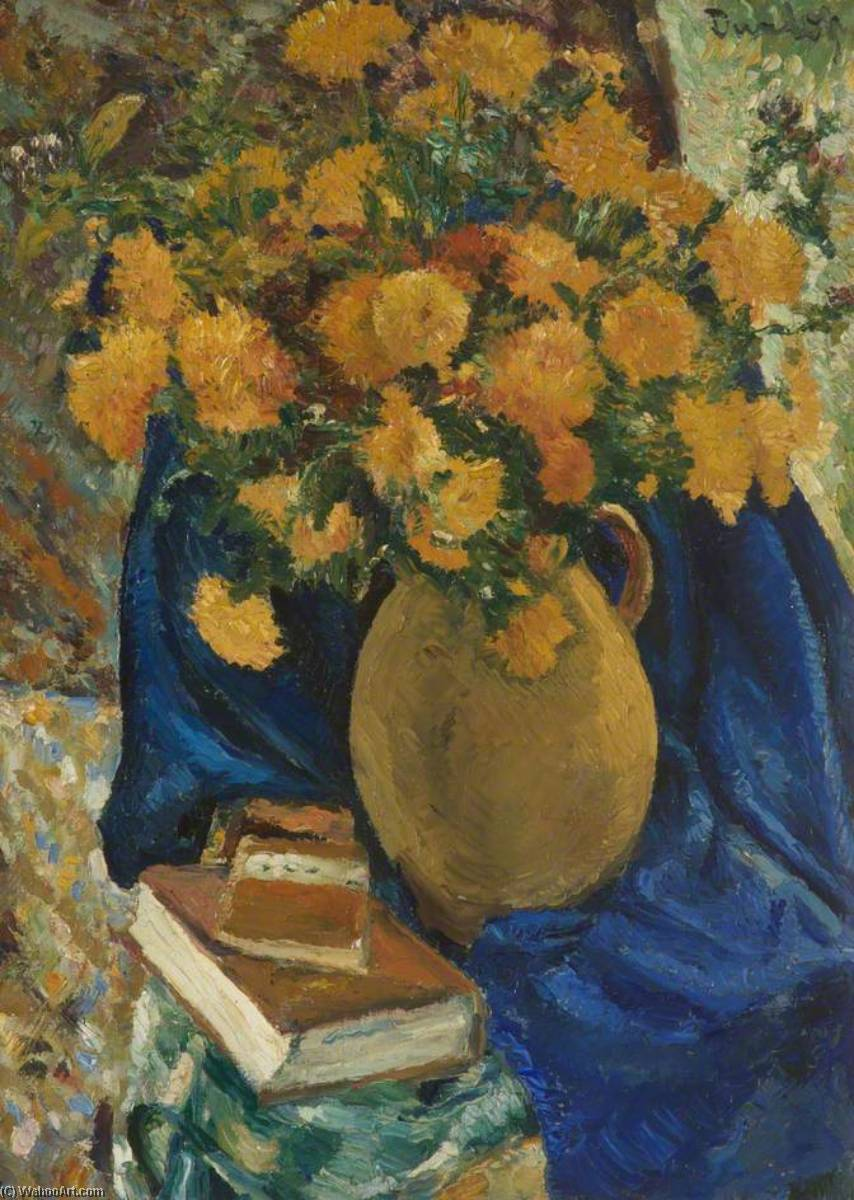 Chrysanthemums, Oil On Canvas by Ronald Ossory Dunlop (1894-1973, Ireland)
