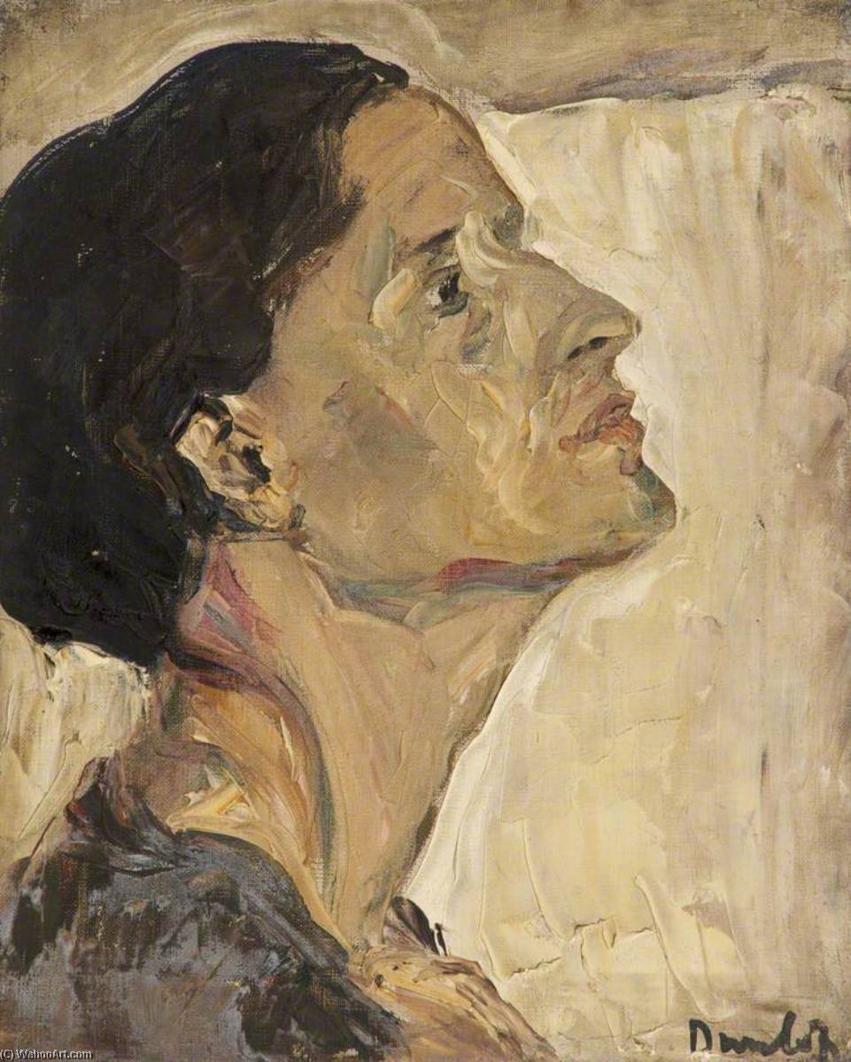 Head of a Woman, Oil On Canvas by Ronald Ossory Dunlop (1894-1973, Ireland)