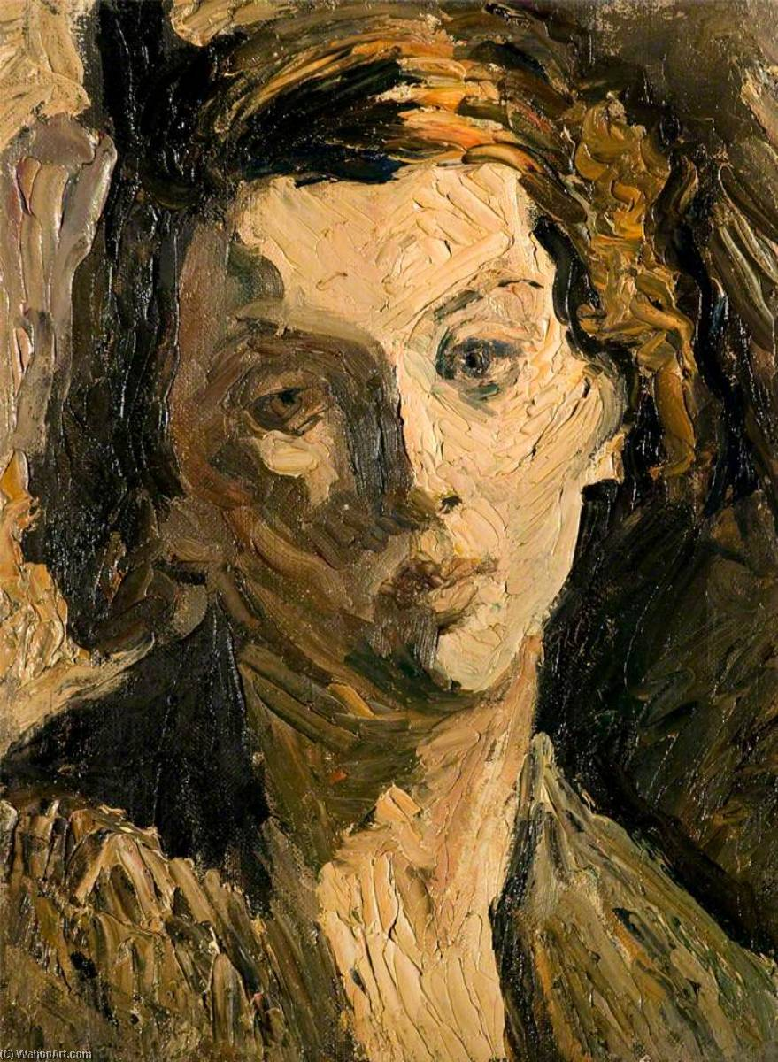 Head of a Girl, Oil On Canvas by Ronald Ossory Dunlop (1894-1973, Ireland)