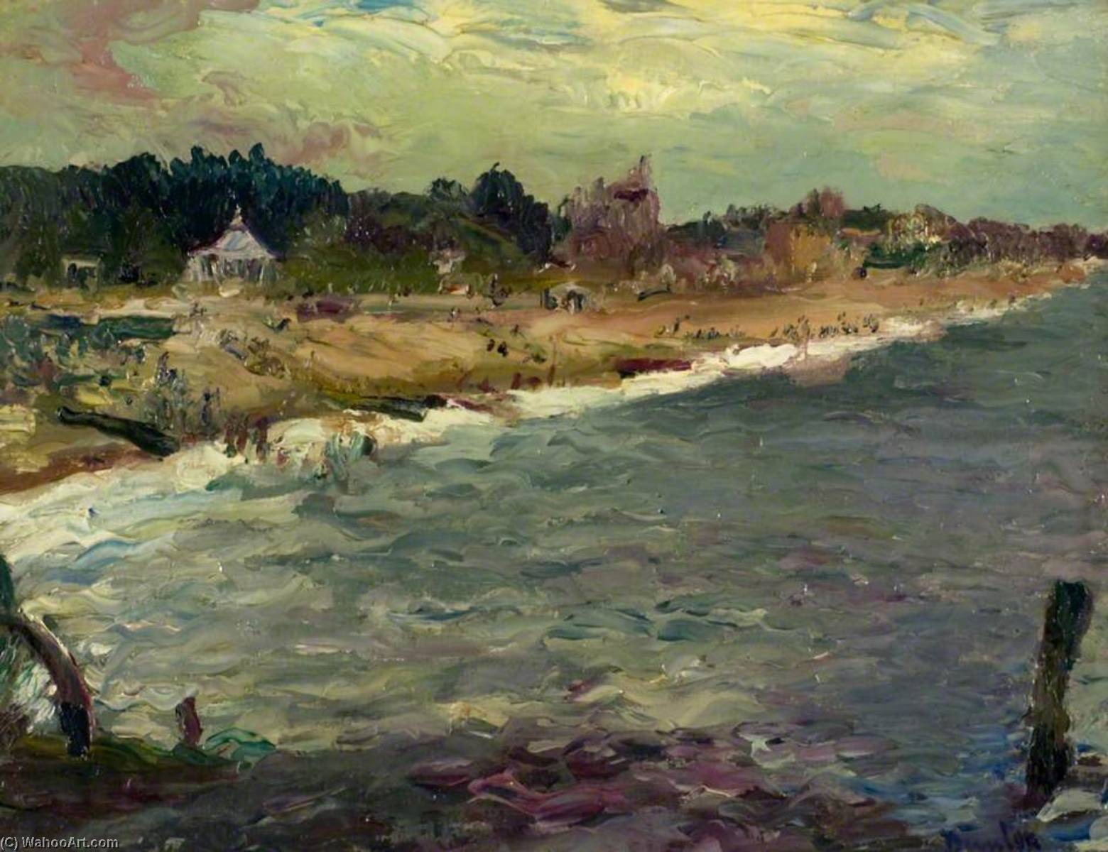 Shore at Littlehampton, Oil On Canvas by Ronald Ossory Dunlop (1894-1973, Ireland)