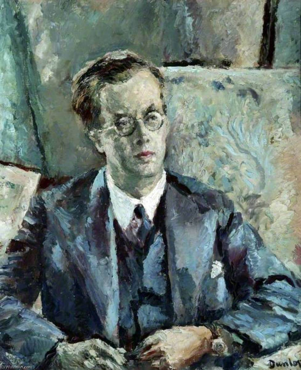 Dr Julian Huxley, Oil On Canvas by Ronald Ossory Dunlop (1894-1973, Ireland)