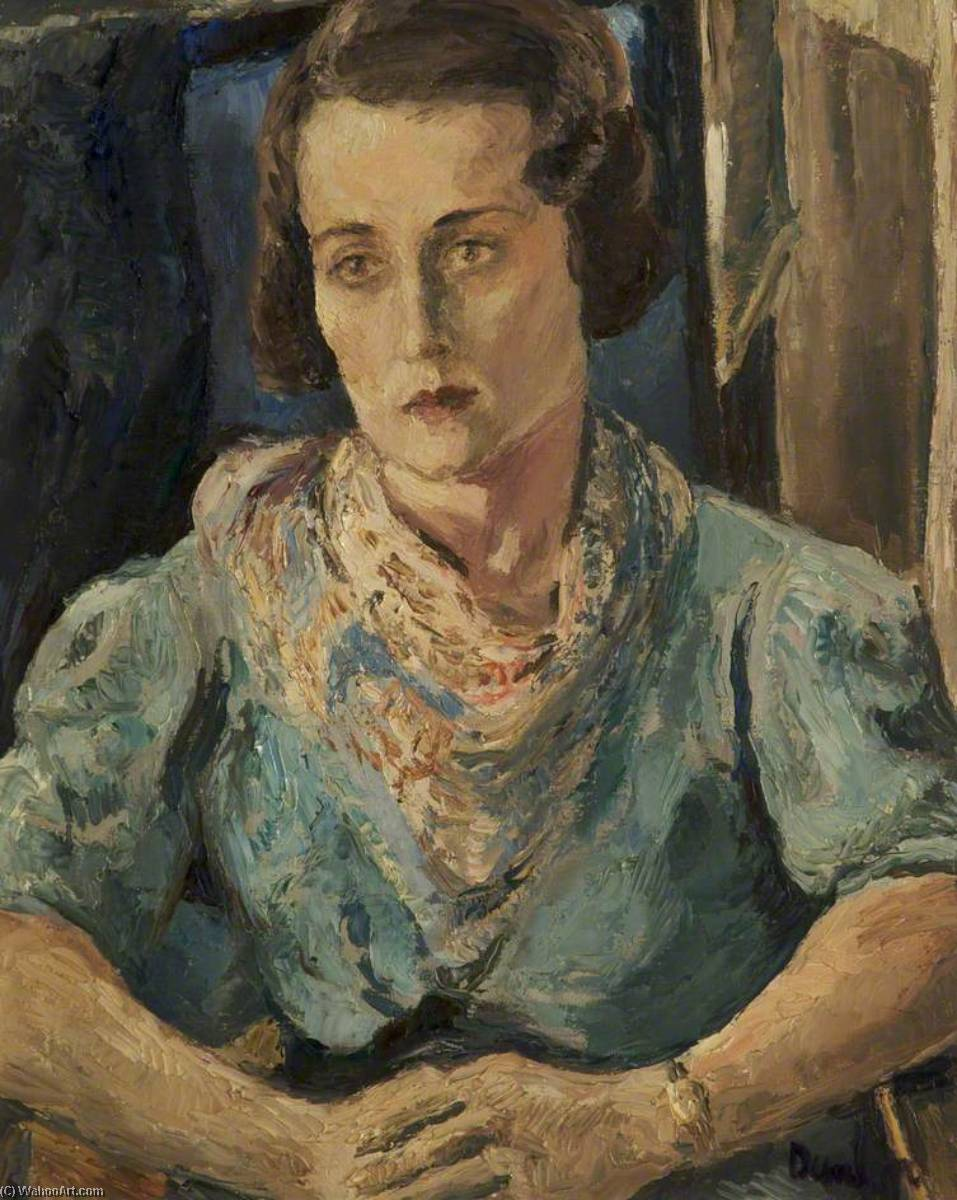 Mademoiselle Dent, Oil On Canvas by Ronald Ossory Dunlop (1894-1973, Ireland)