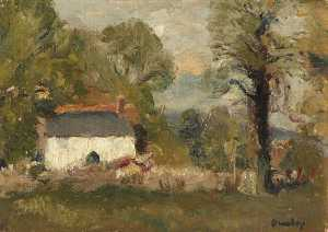 Ronald Ossory Dunlop - Cottage among Trees