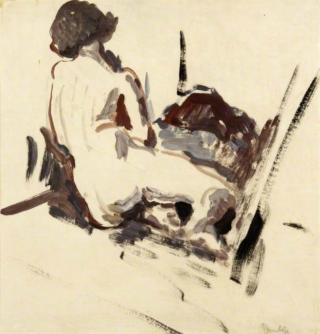 Seated Nude, Oil by Ronald Ossory Dunlop (1894-1973, Ireland)