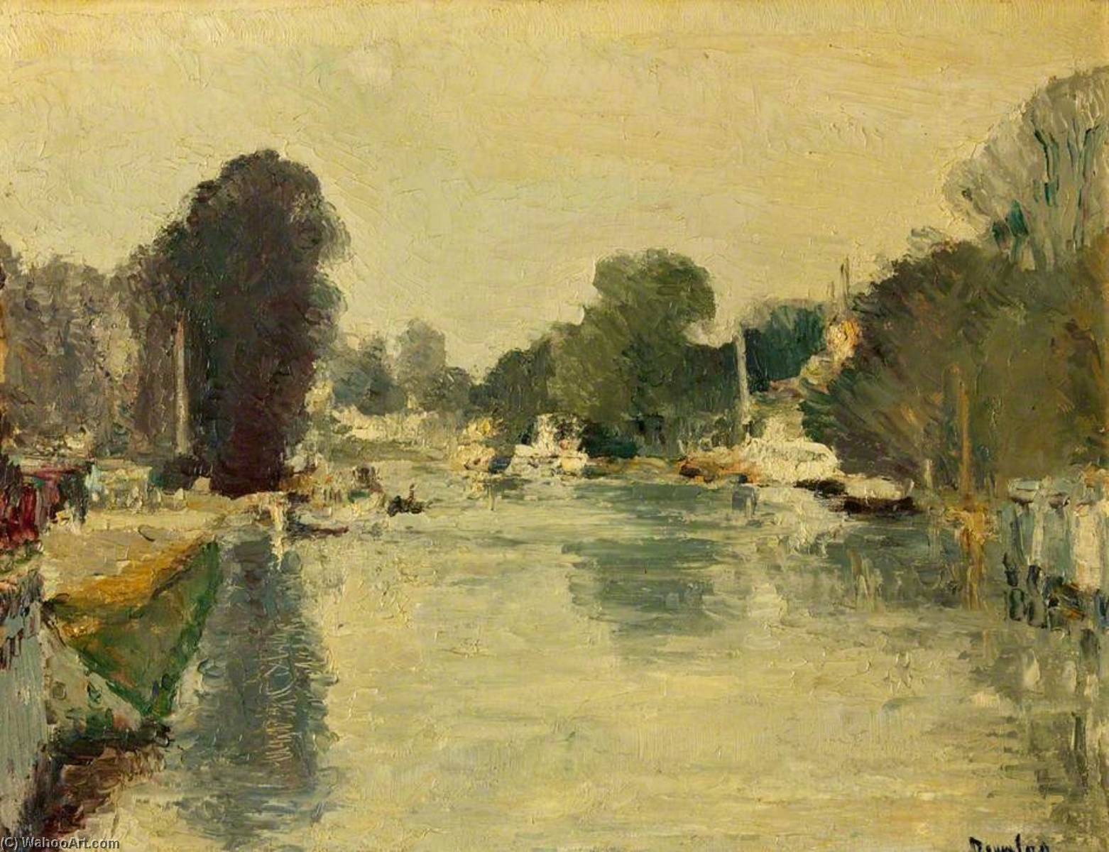River Thames Looking towards Hampton by Ronald Ossory Dunlop (1894-1973, Ireland) | Museum Quality Reproductions | WahooArt.com