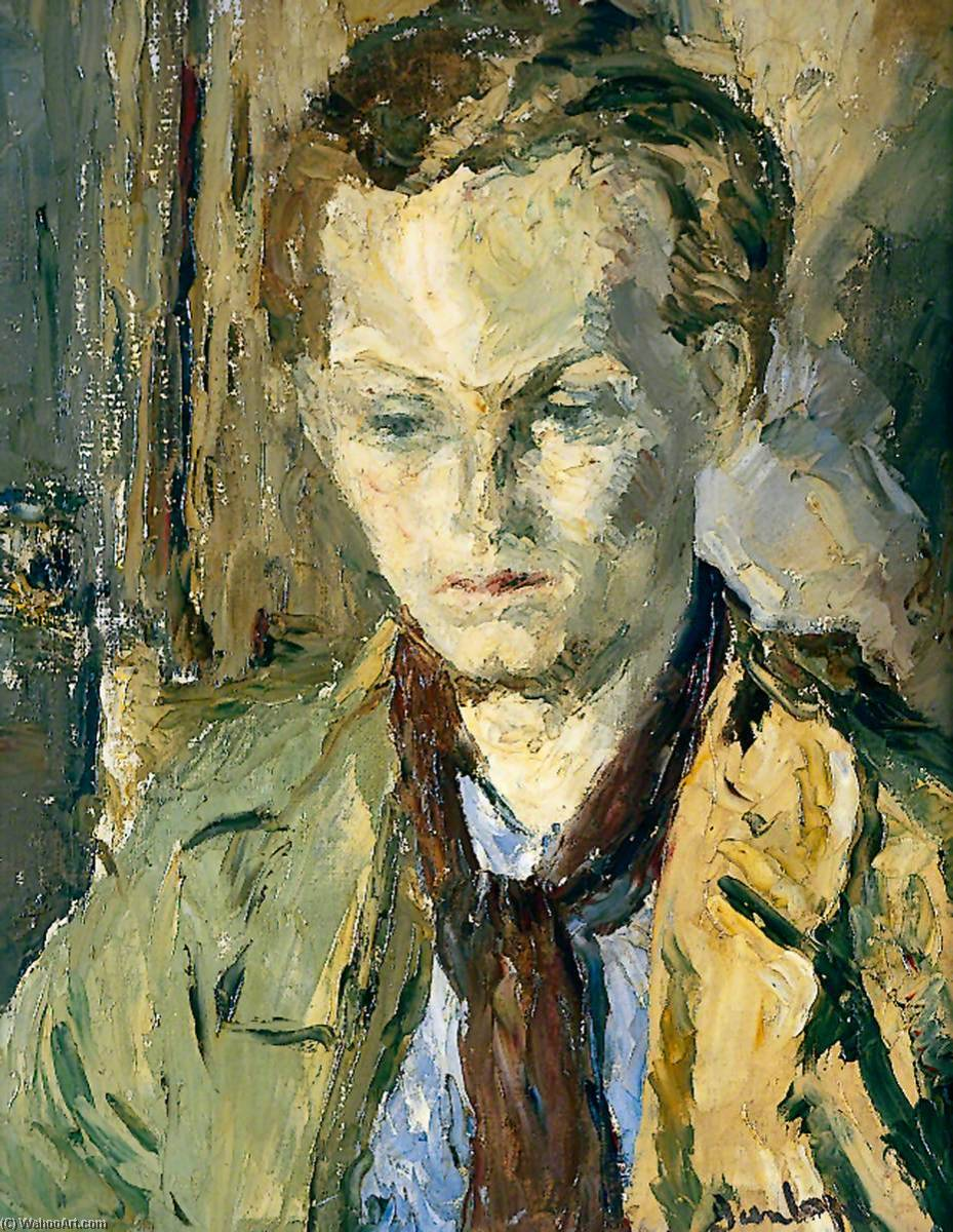 The Young Poet, Oil On Canvas by Ronald Ossory Dunlop (1894-1973, Ireland)