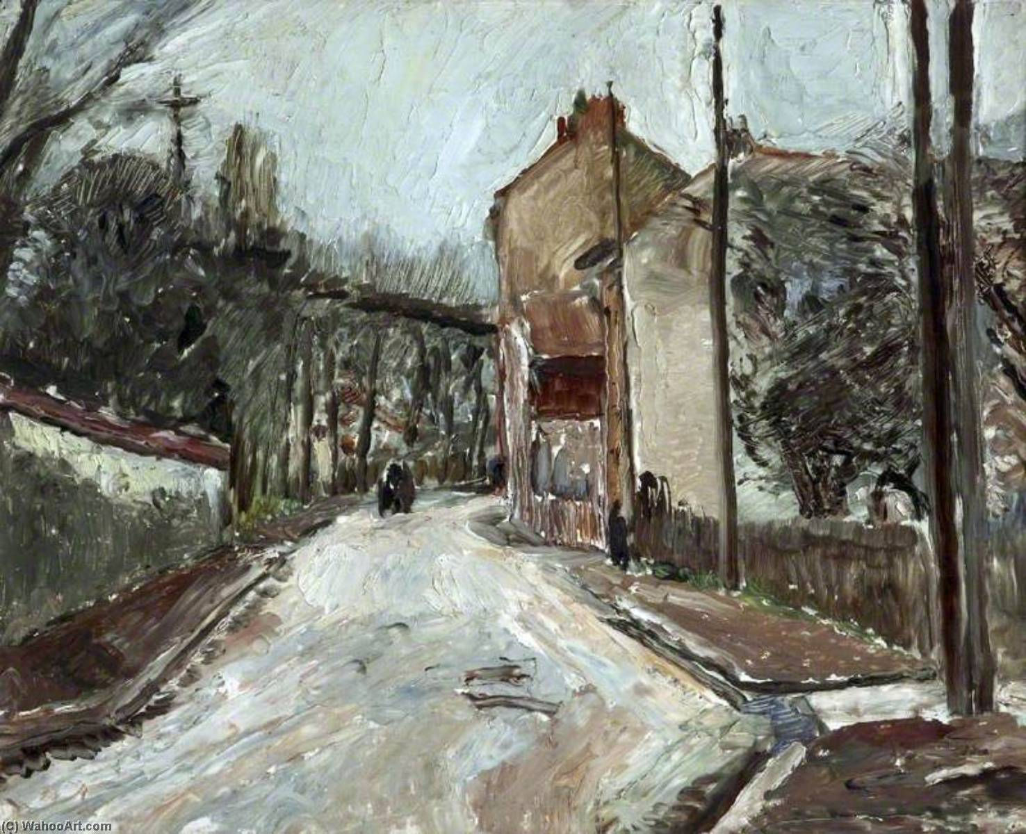 Neuilly, France, Oil On Canvas by Ronald Ossory Dunlop (1894-1973, Ireland)
