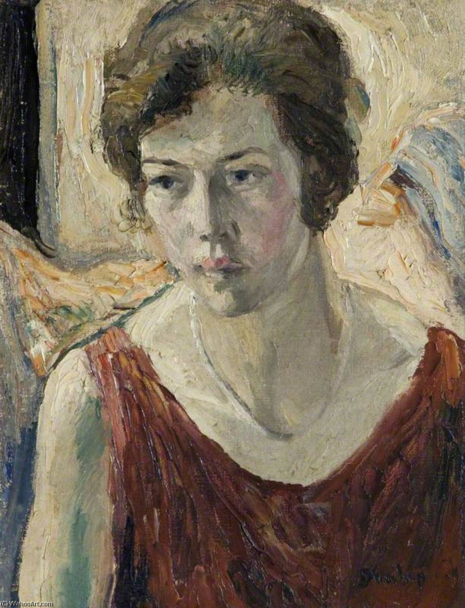 Portrait of a Woman, Oil On Canvas by Ronald Ossory Dunlop (1894-1973, Ireland)