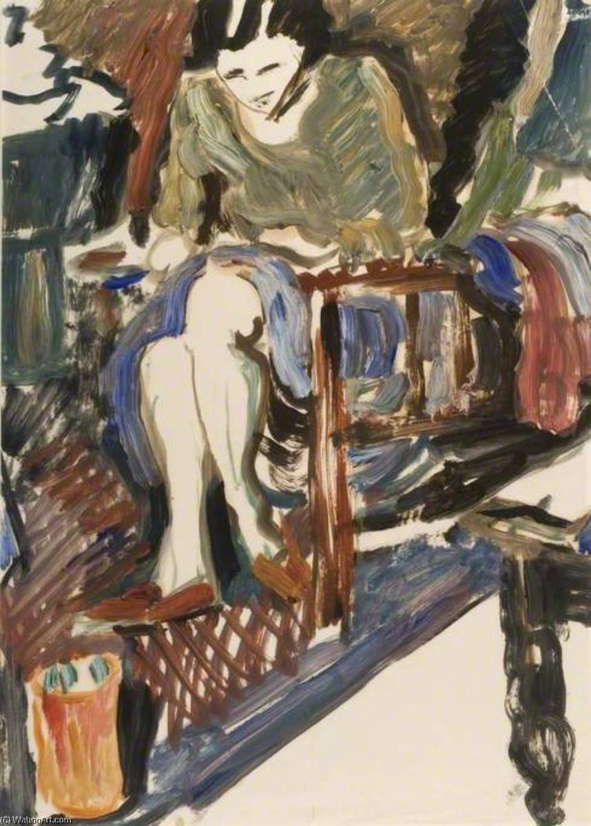 Figure Study, Paper by Ronald Ossory Dunlop (1894-1973, Ireland)