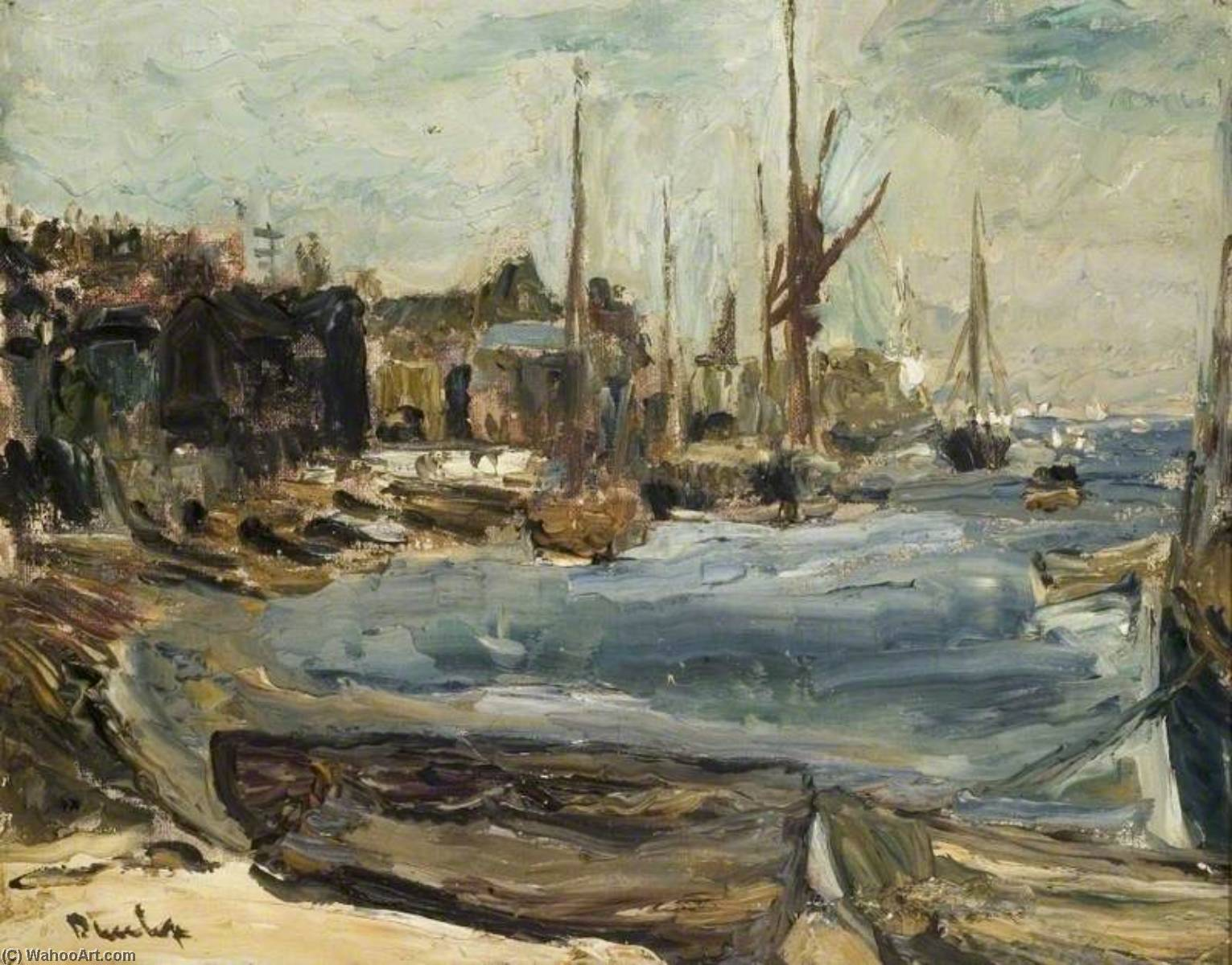 The Harbour, Leigh on Sea, Oil On Canvas by Ronald Ossory Dunlop (1894-1973, Ireland)