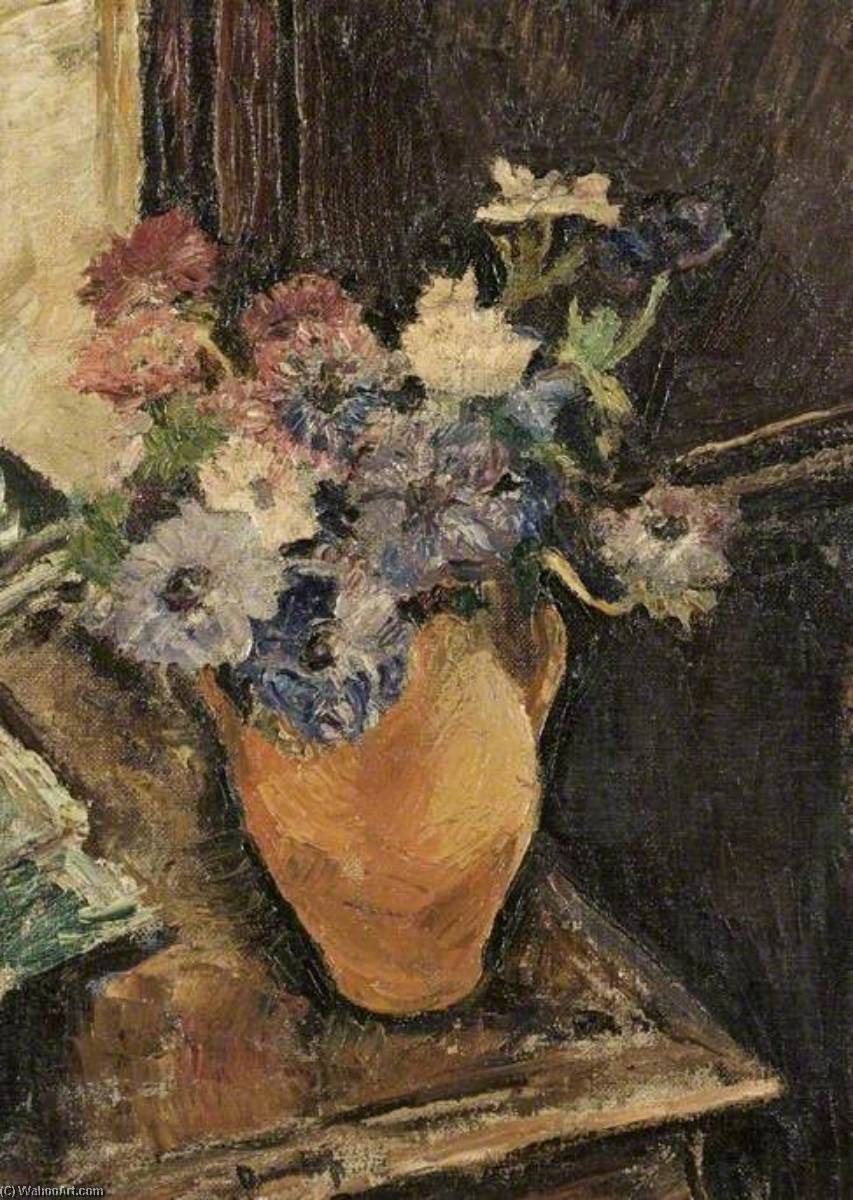 Flowers, Oil On Canvas by Ronald Ossory Dunlop (1894-1973, Ireland)