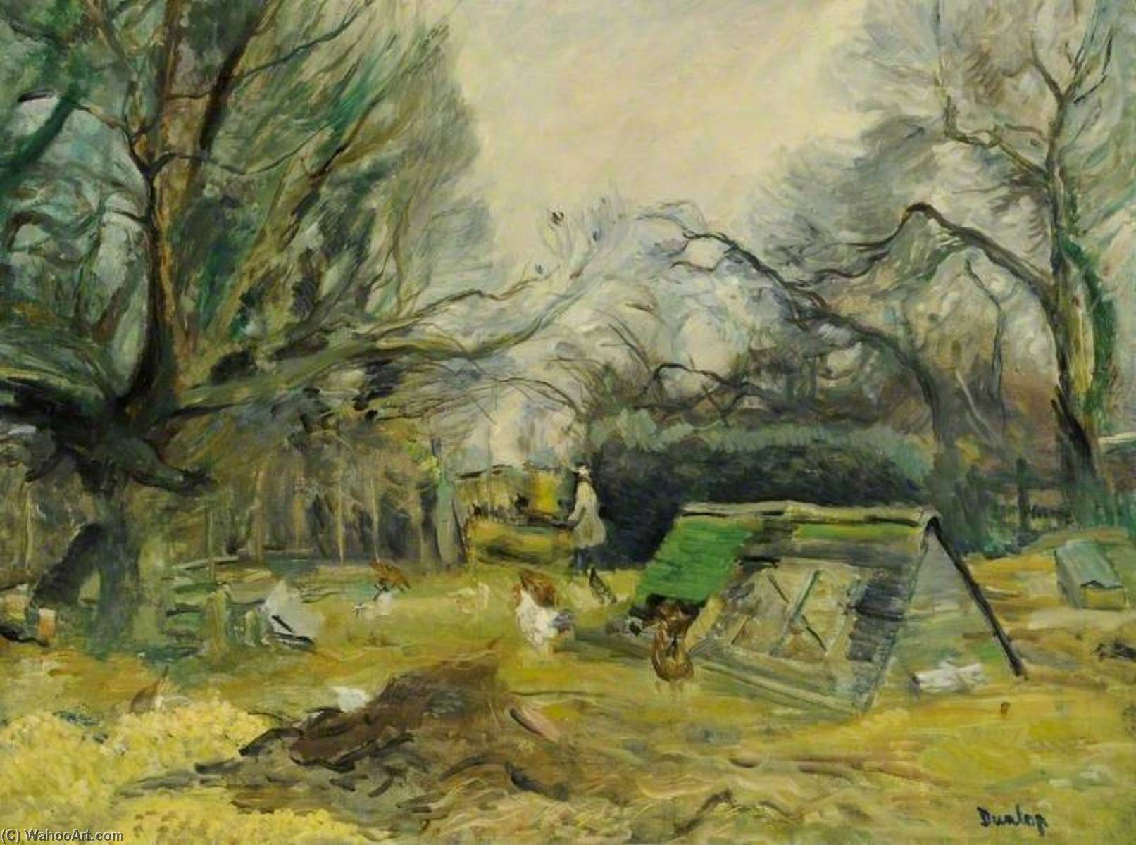 The Untidy Farmyard, Oil On Canvas by Ronald Ossory Dunlop (1894-1973, Ireland)