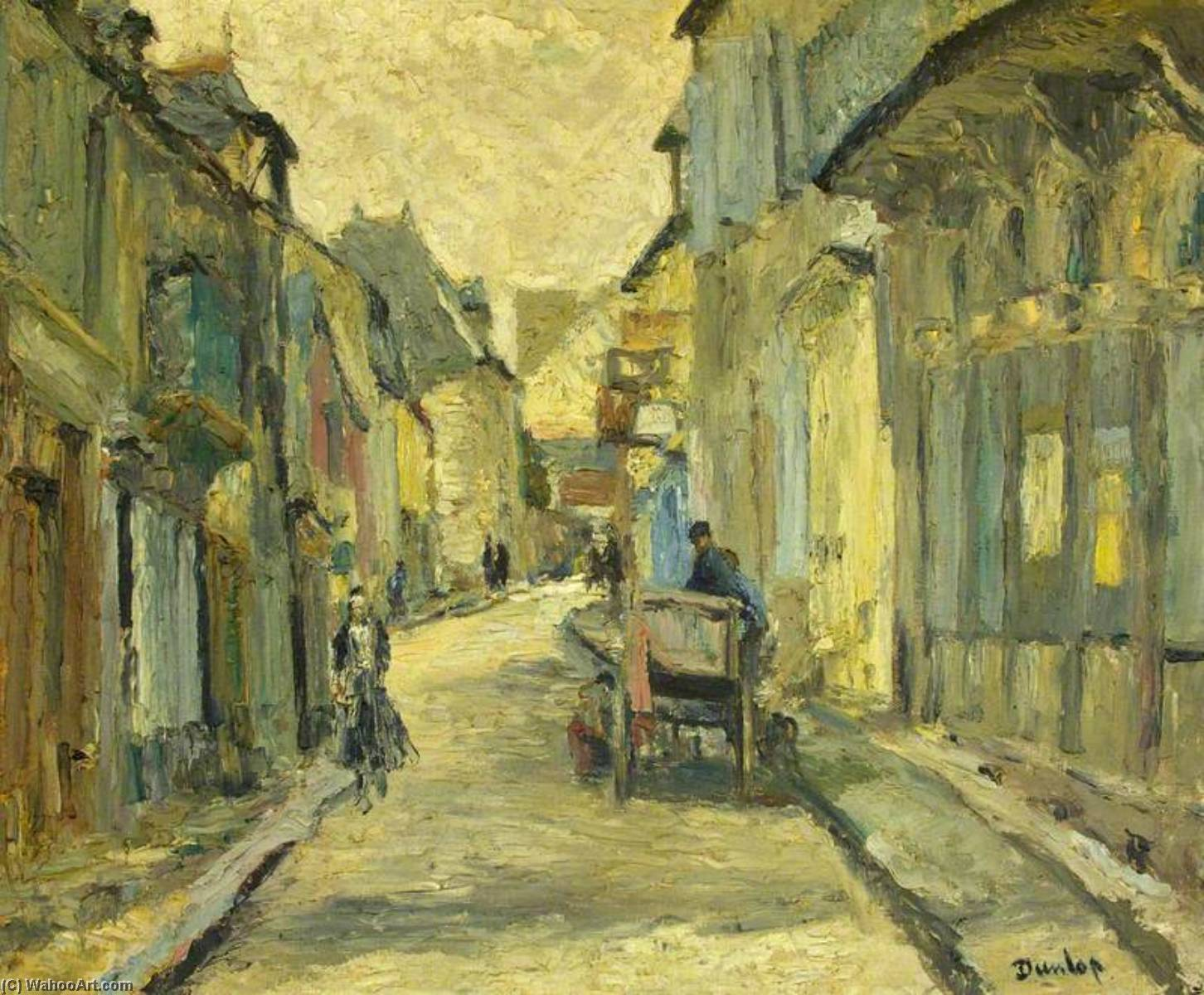 Street Scene, Dinan, Oil On Canvas by Ronald Ossory Dunlop (1894-1973, Ireland)
