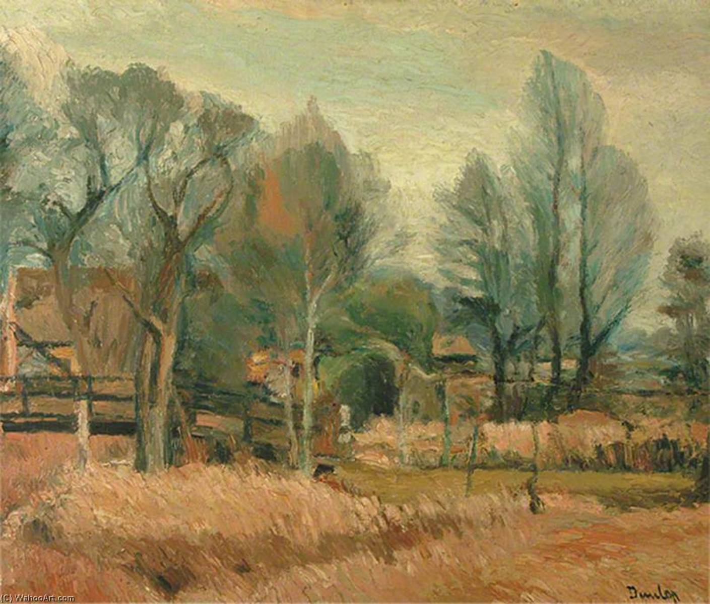 September Landscape, Oil On Canvas by Ronald Ossory Dunlop (1894-1973, Ireland)