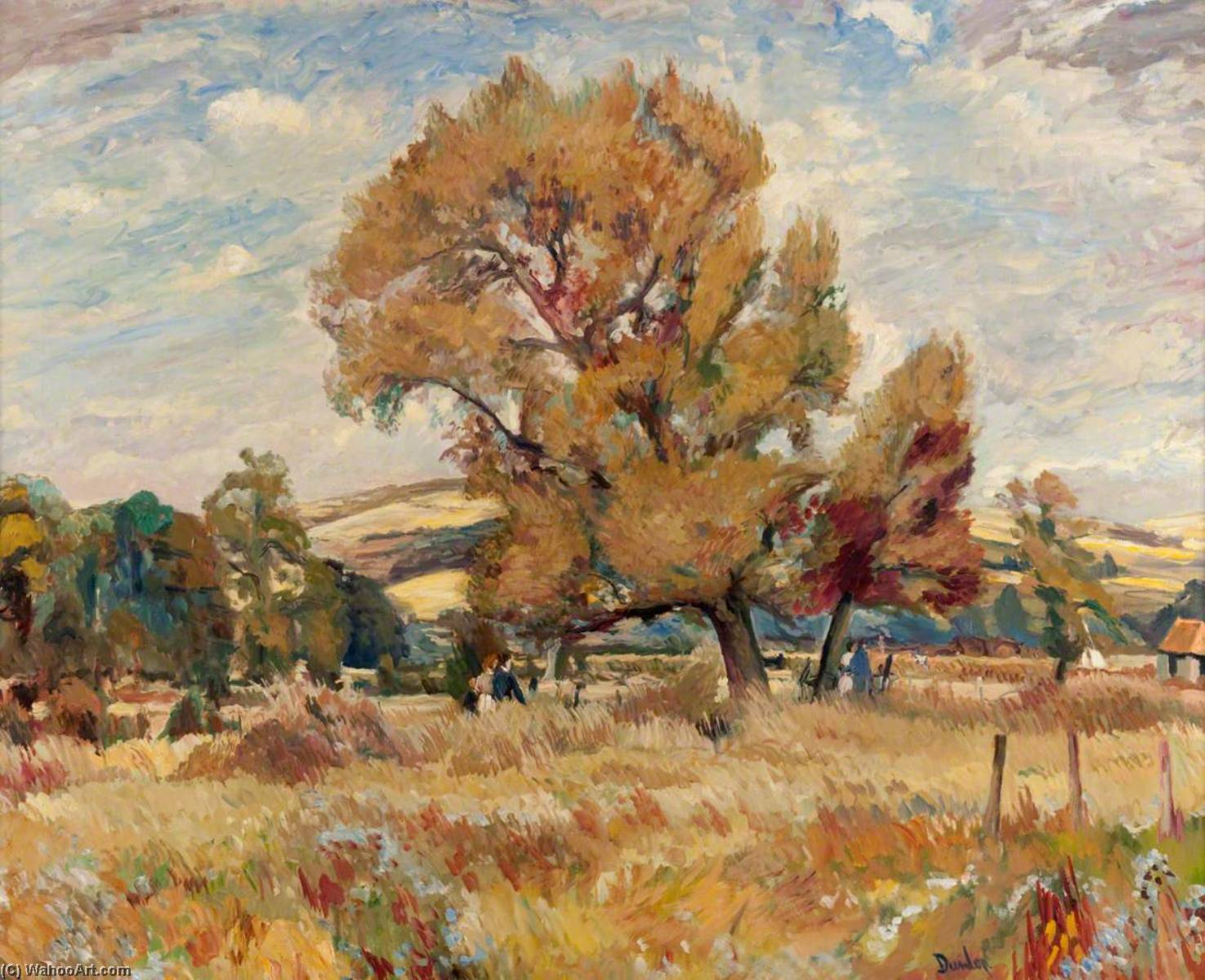 The Bevis Tree of Arundel, Oil On Canvas by Ronald Ossory Dunlop (1894-1973, Ireland)