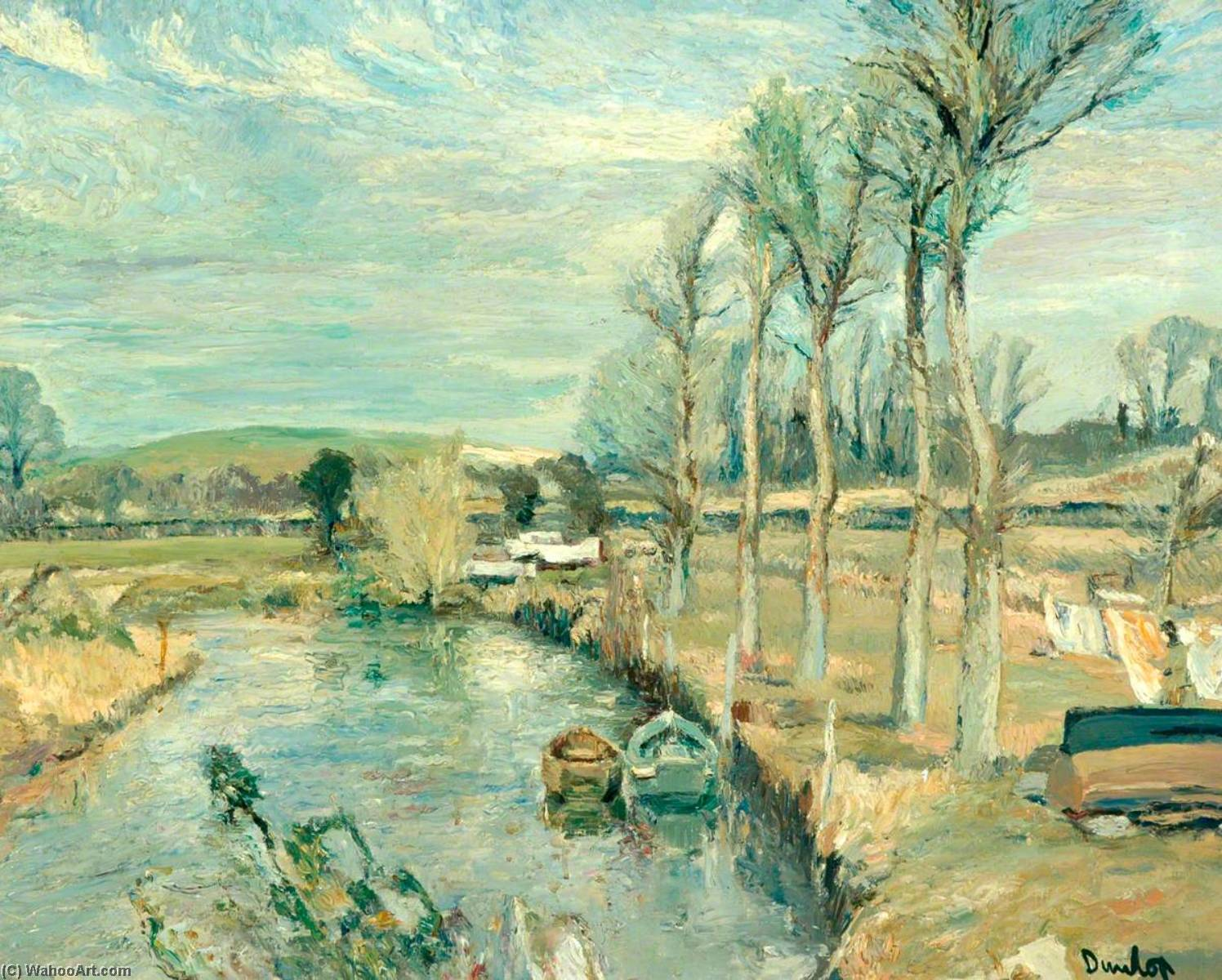 A Sussex Landscape by Ronald Ossory Dunlop (1894-1973, Ireland) | Oil Painting | WahooArt.com