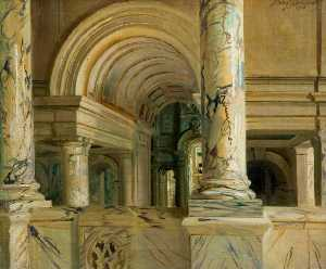 Frank O Salisbury - The Entrance Hall of the Victoria and Albert Museum