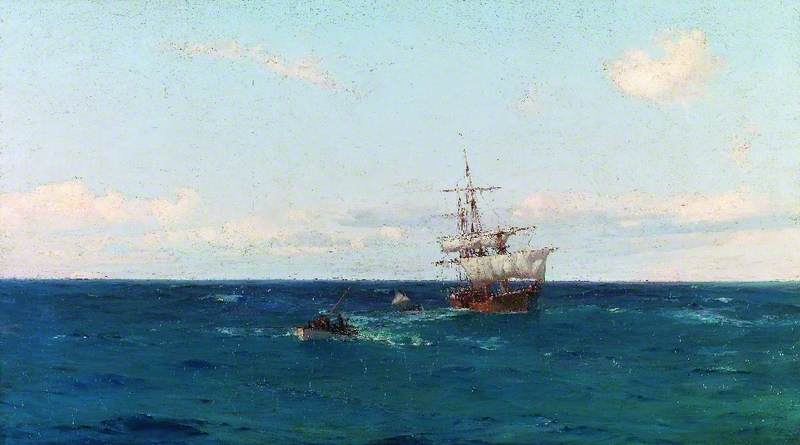 After the Gale, Oil On Canvas by Thomas Jacques Somerscales (1842-1927)