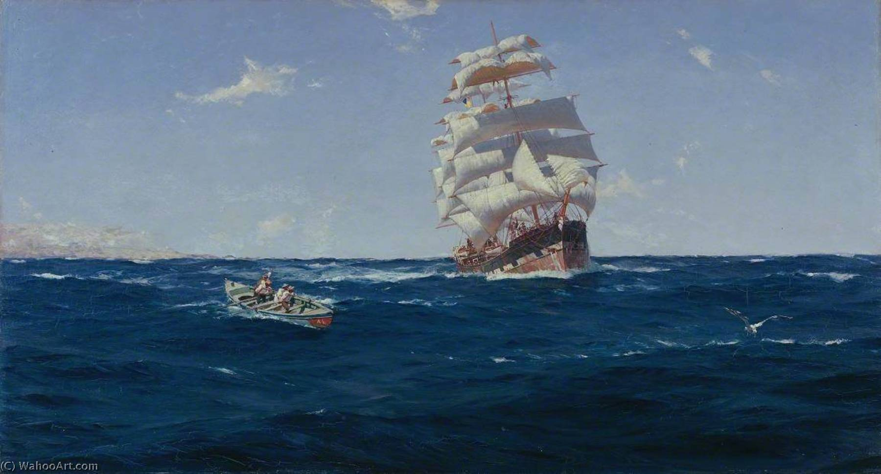 Off Valparaiso, 1899 by Thomas Jacques Somerscales (1842-1927) | WahooArt.com