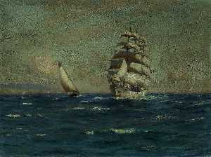Thomas Jacques Somerscales - Sailing Vessels off the Coast