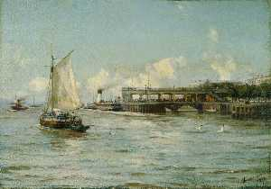 Thomas Jacques Somerscales - The Pier, Kingston upon Hull