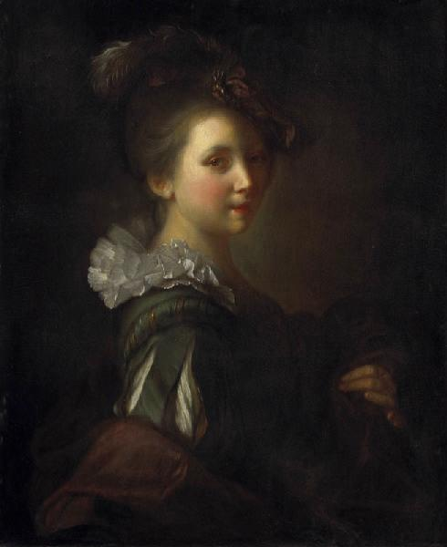 Etude de jeune fille, Oil by Alexis Grimou (1678-1733, [1] France)