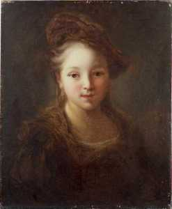 Order Art Reproduction : Tête de jeune fille by Alexis Grimou (1678-1733, France) | WahooArt.com