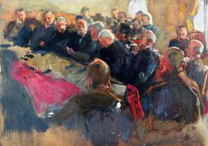 Herbert Arnould Olivier - Supreme War Council in Session, Right Side, 4 July 1918
