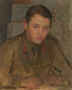 Herbert Arnould Olivier - Captain John Henry Bevan (1894–1978), Intelligence Official (preparatory study for 'The Supreme War Council in Session at Versailles on 3rd July 1918')