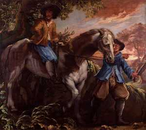 Isaac Fuller - King Charles II on Humphrey Penderel-s Mill Horse