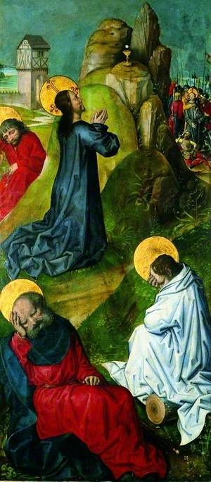 The Agony in the Garden (recto), 1470 by Master Of The View Of Saint Gudule | Art Reproduction | WahooArt.com