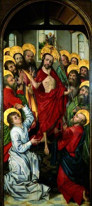 The Risen Christ (recto), 1470 by Master Of The View Of Saint Gudule | Museum Quality Reproductions | WahooArt.com