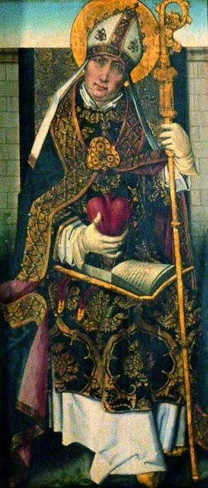 St Ambrose (verso), 1470 by Master Of The View Of Saint Gudule | Painting Copy | WahooArt.com