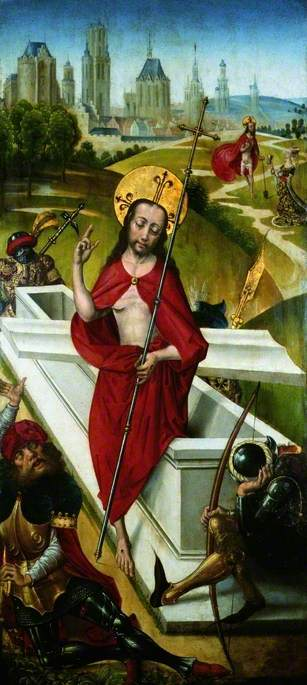The Resurrection (recto), Oil On Panel by Master Of The View Of Saint Gudule