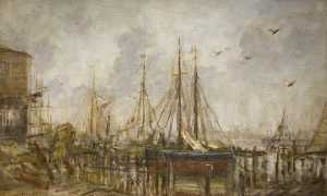Philip Wilson Steer - A Shipyard, Shoreham, Sussex