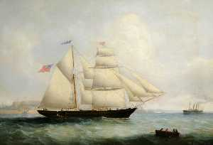 Philip John Ouless - The 'St Peter' of Jersey, off St Helier Harbour and Elizabeth Castle