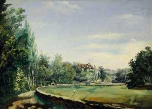 Philip John Ouless - View of a House Set in Gardens