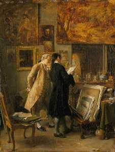 Jean Louis Ernest Meissonier - An Artist Showing his Work