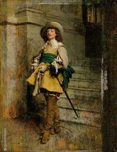 Jean Louis Ernest Meissonier - A Cavalier Time of Louis XIII