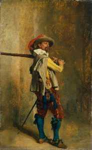 Jean Louis Ernest Meissonier - A Musketeer Time of Louis XIII
