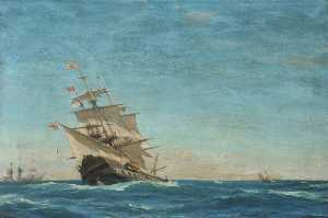 John Fraser - HMS 'Juno' Going to Windward