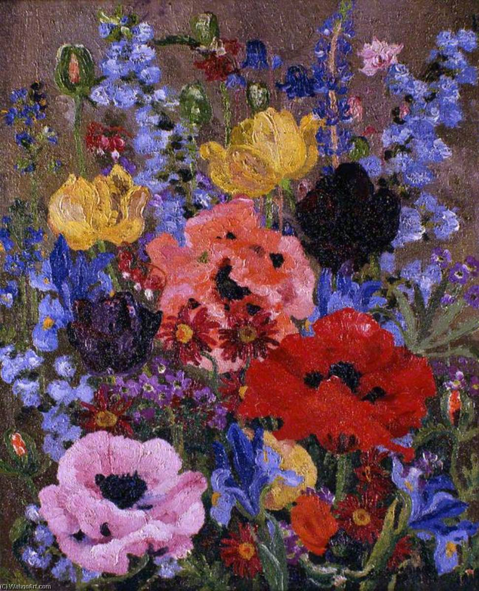 Summer Flowers, Oil On Canvas by Cedric Lockwood Morris (1889-1982, United Kingdom)