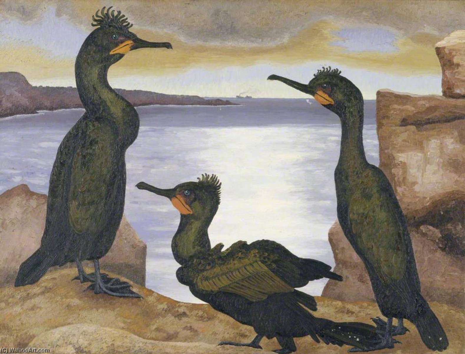 Shags, 1938 by Cedric Lockwood Morris (1889-1982, United Kingdom) | Painting Copy | WahooArt.com