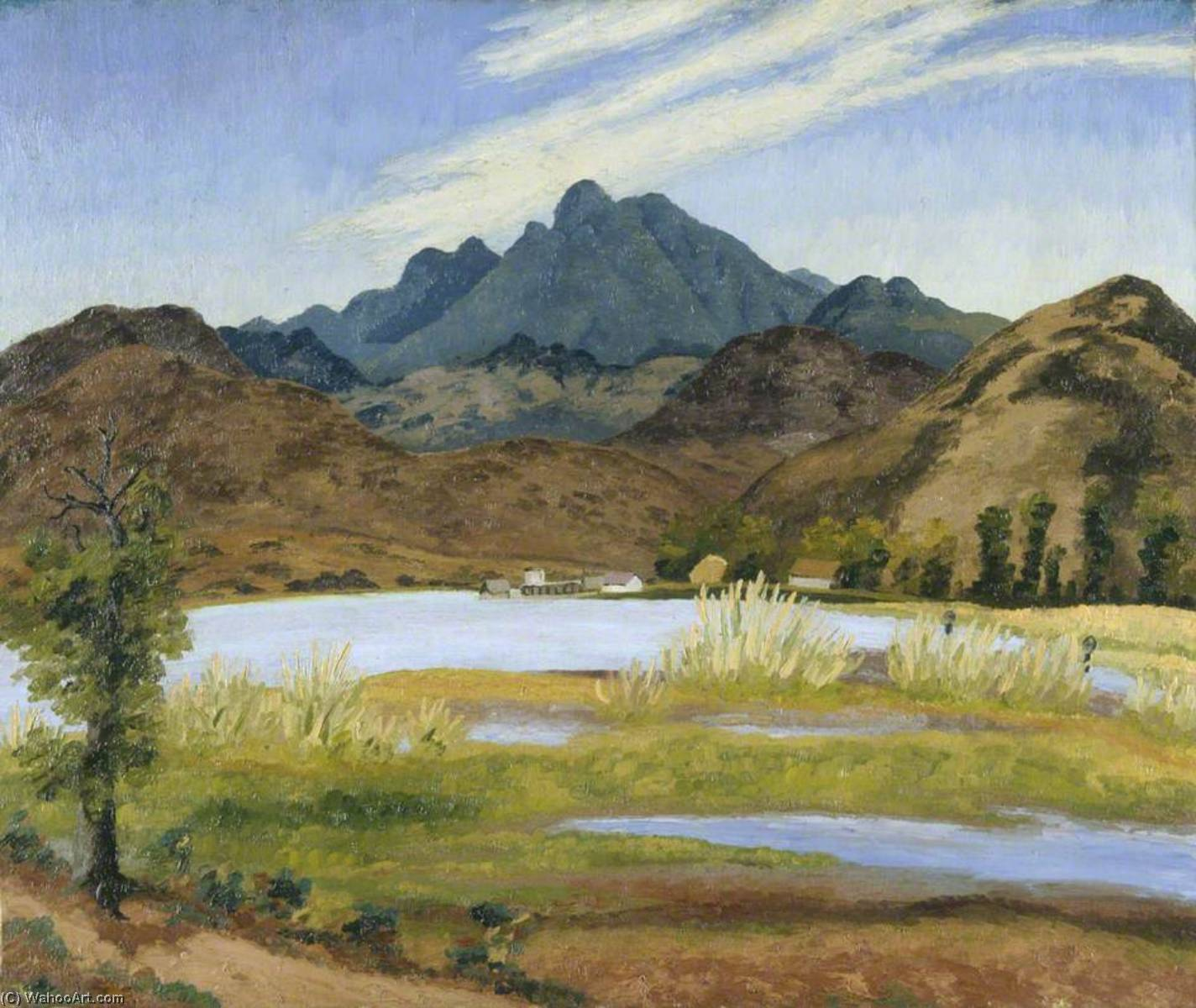 Lake Pátzcuaro, Mexico, Oil On Canvas by Cedric Lockwood Morris (1889-1982, United Kingdom)